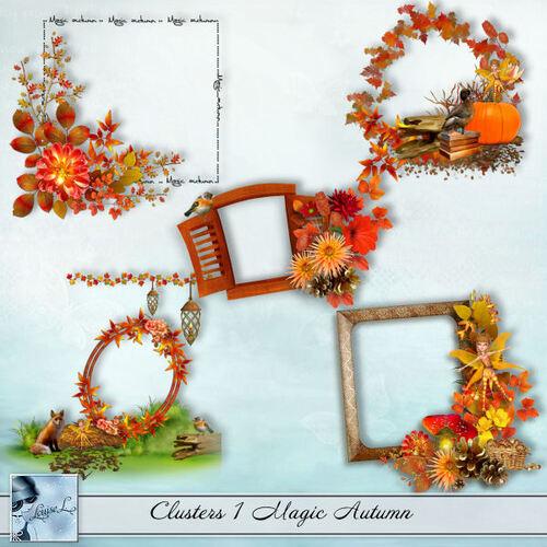 Clusters, embellissements Magic Autumn