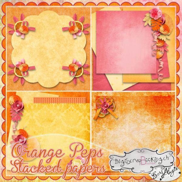 """""""Orange Peps"""" de Scrap'Angie"""