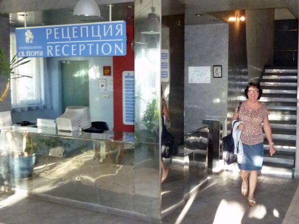 Jour 2 - Moi à l'Hôtel Saint-George à Sofia