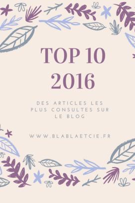 Le Top 10 des articles publiés en 2016
