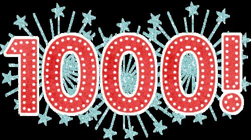 1000 visiteurs