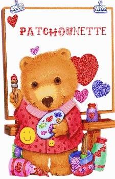Patchounette ours peintre