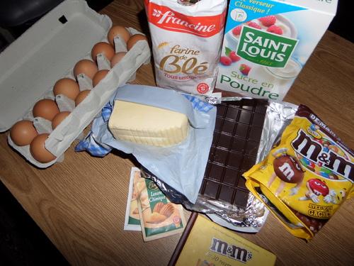 Gâteaux aux M&M