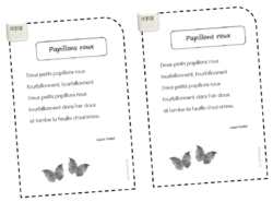 * Poésie: Papillons roux (Codet)