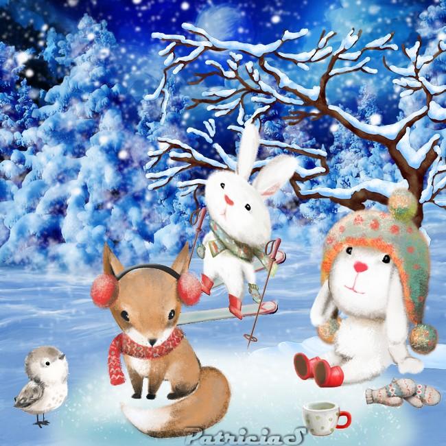 hiver des animaux