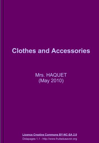 Réviser les vêtements et accessoires en anglais