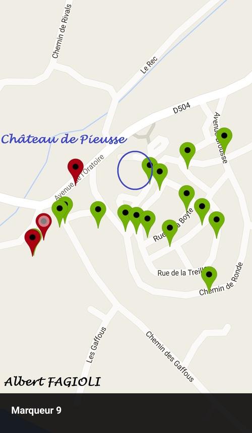 Voici quelques relevés des points de passage des souterrains du château de Pieusse, mercredi 20 juillet 2016. (Albert FAGIOLI)