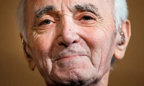 Charles Aznavour, the 'Frank Sinatra of France'.
