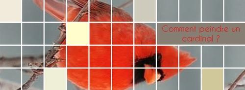 Dessin et peinture - vidéo 3560 : Comment peindre  un cardinal ? - huile ou acrylique.
