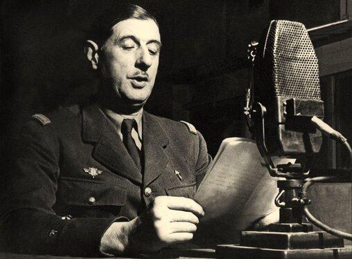 Depuis Londres, Appel du 18 juin 1940 par le Général de Gaulle