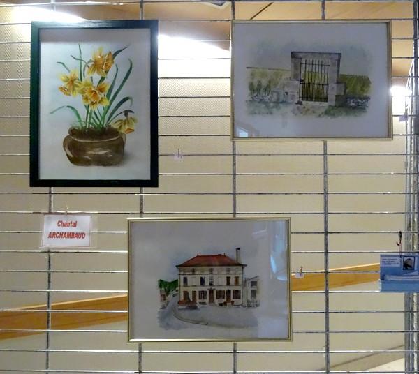 Voici les oeuvres présentées par les artistes du salon des peintres 2017 des Amis du Châtillonnais
