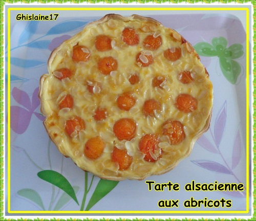 Tarte alsacienne aux abricots