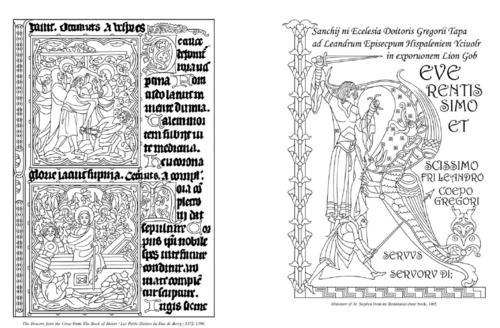 Enluminures et lettrines, manuscrit, moyen age, coloriages