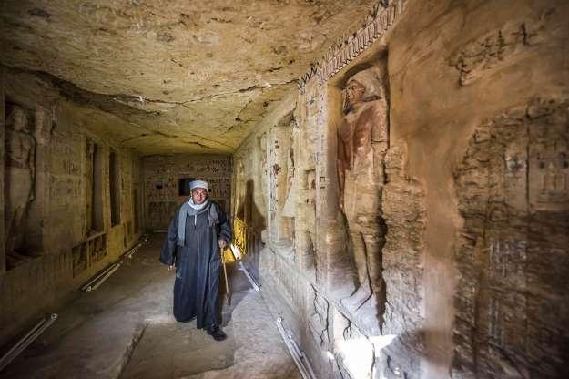 Sublime découverte d'une tombe de 4400 ans sur le site égyptien de Saqqara