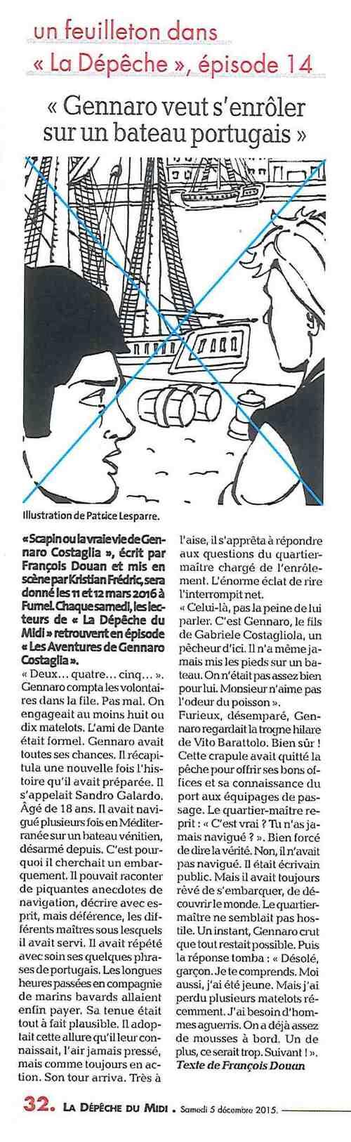 Les aventures de Gennaro Costagliola / Episode 14 / La dépêche