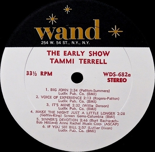 "Tammi Terrell : Album "" The Early Show "" Wand Records WDS-682 [ US ]"