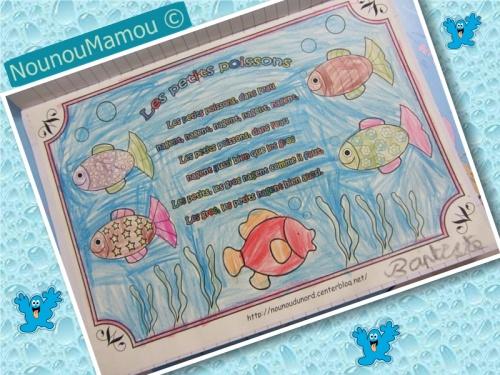 Comptine illustrée : les petits poissons