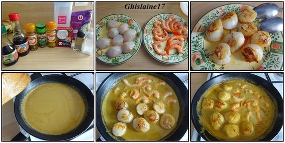 Sauté vietnamien de St Jacques et crevettes