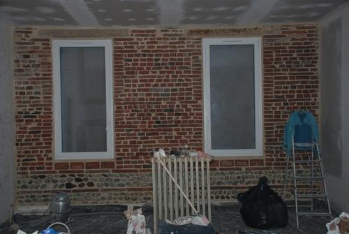 Mur briques et galets de Toulouse bis