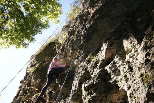 Photos d'escalade sur les falaises de Vertus avec l'ANA