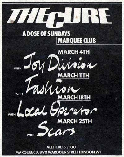 1979.03.11-The Cure-London-Marquee Club