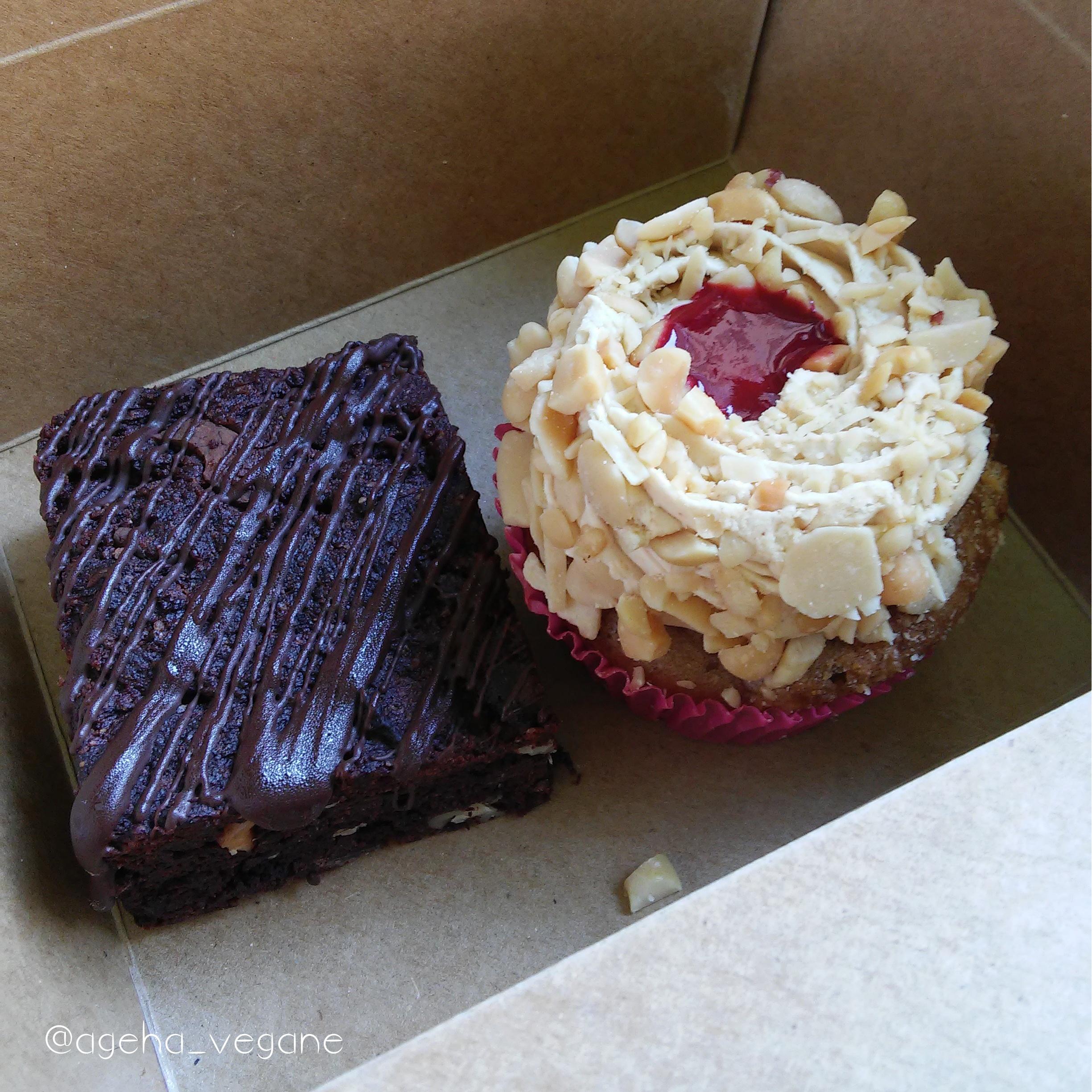 Sur place ou à emporter : Cake cacahuète et brownie