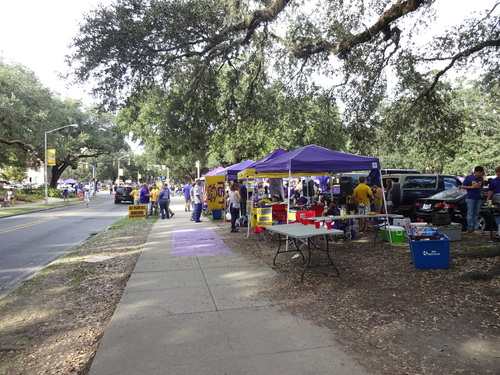 Tailgating 17 octobre - LSU VS Florida Gators