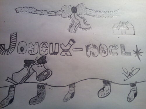 dessin noël ♥
