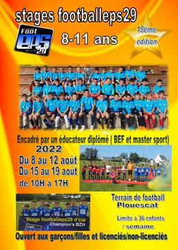 Dates des stages futsal et d'été 2022