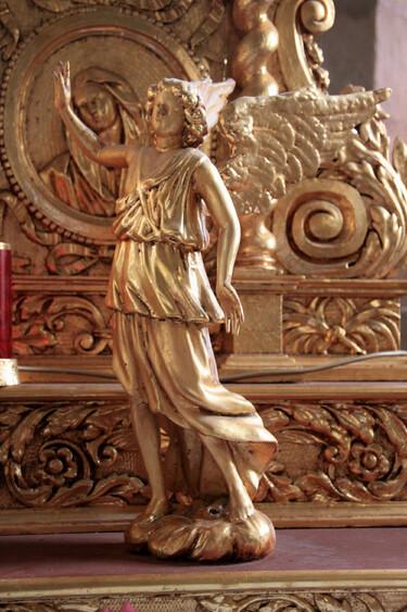 église st léger, détails du retable