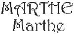 Dictons de la Ste Marthe + grille prénom !