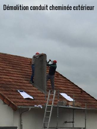 D molition chemin e sur toiture toiture91 - Demolition cheminee ancienne ...