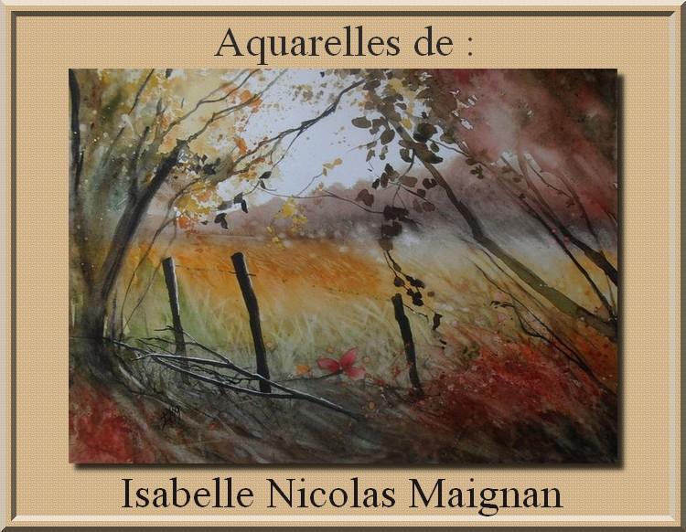 Auarelles d' Isalelle Nicolas Magnan