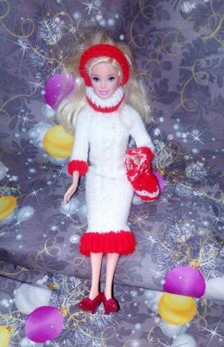 Barbie en robe torsade par Françoise80 et Suzon du Doubs
