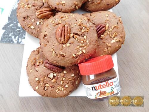 Cookies au nutella et noix de pécan