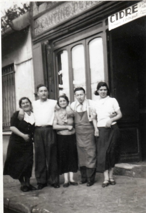 Rue de la Gare à Aubervilliers... Juin 1940