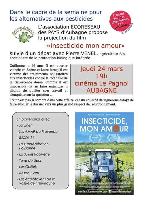 "Projection ""Insecticide mon amour"""