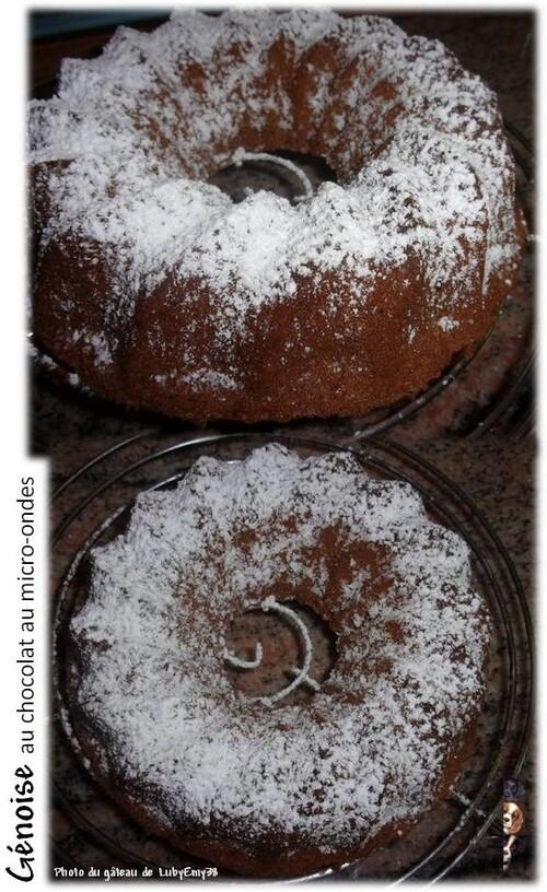 Génoise au chocolat au micro-ondes en 5 min