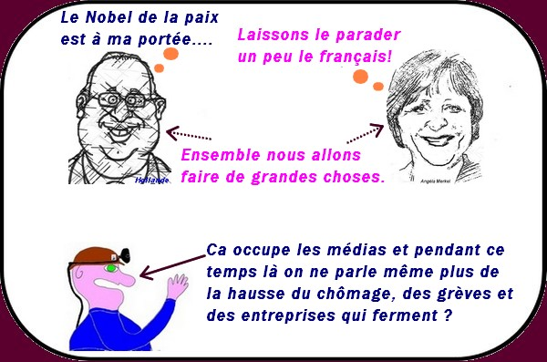 le couple hollande merkel 01