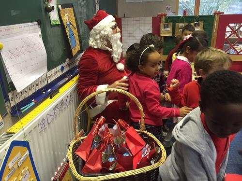 Père Noël en maternelle