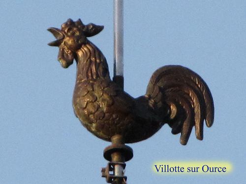 Coqs de clochers dans le canton de Châtillon sur Seine..