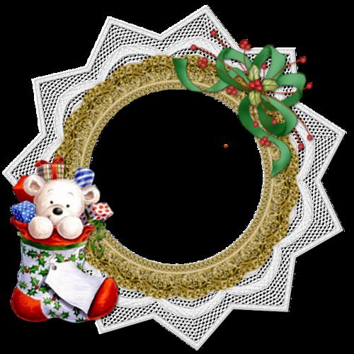 Cadres clusters  de Noël ( ronds )