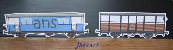 Banderole et carte d'anniversaire - train -6