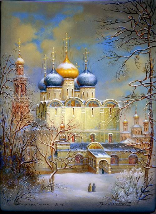 """""""  Superbe tableau d'une Eglise en Russie"""""""