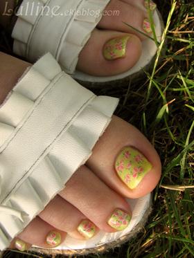 Nail Art - Pieds Printaniers