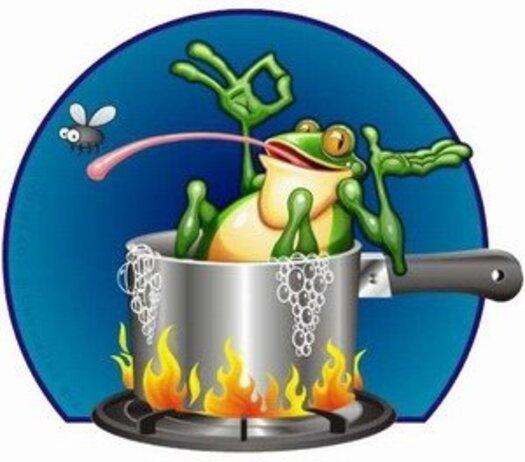 Sommes nous déjà cuits ...? L' histoire de la grenouille...