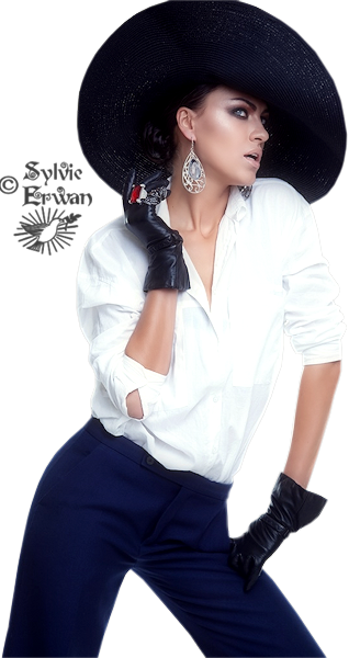 Tubes femmes chapeaux création 4