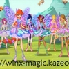 Les Winx Butterflix dans le parc d\'Alfea