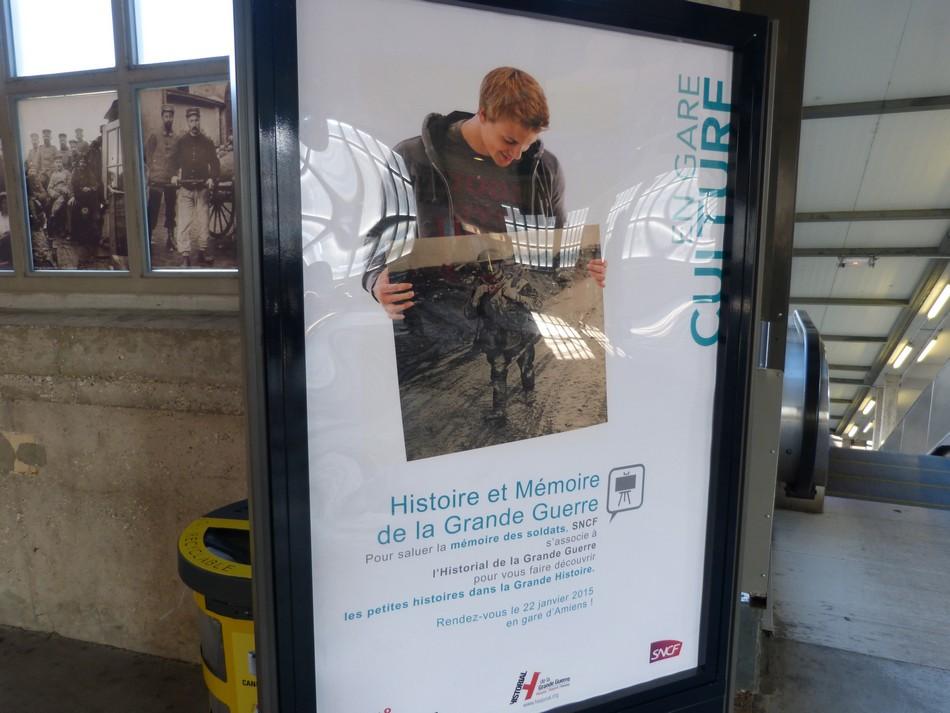Une expo à la gare du Nord d'Amiens