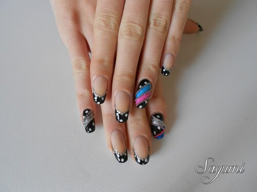 Nail Art - Tanaka Reina inspired nails 3